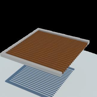 Pergola semplice legno Modulo laterale